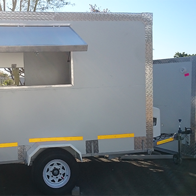 Single axle mobile kitchens for sale