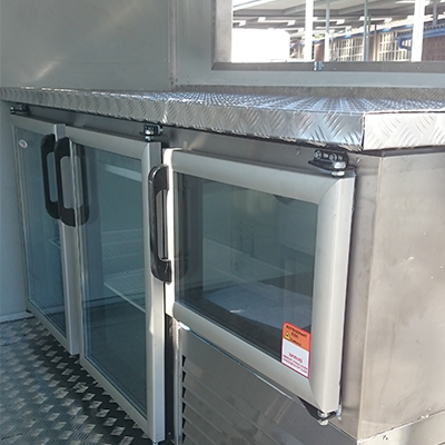 Mobile kitchens interior view