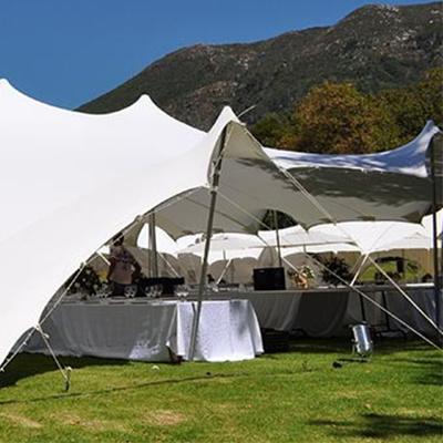 White stretch tents for sale